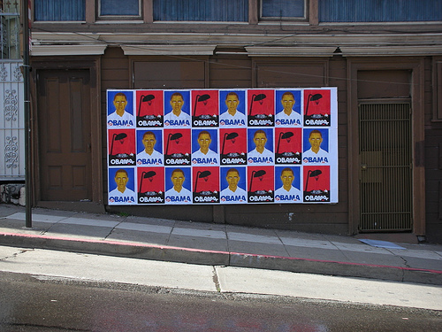 Obama posters in SF