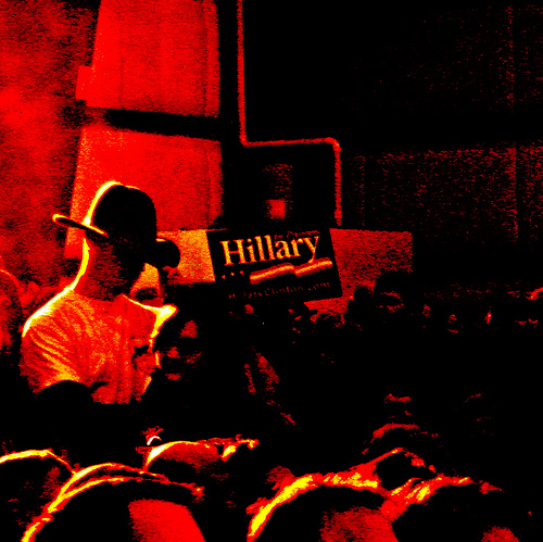 Cowboy for Hillary in Missoula