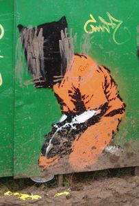 Graffiti of Gitmo detainee