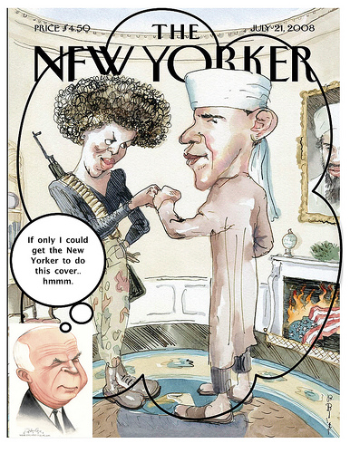 Parody of Obama New Yorker cover