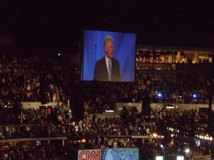 Bill Clinton speaking at convention