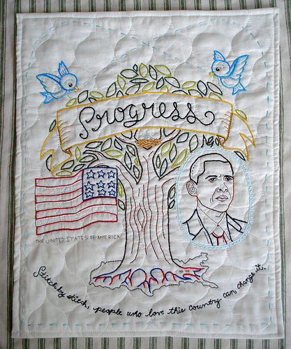 Pro-Obama embroidery