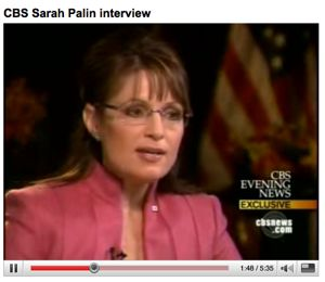 Palin in Couric interview
