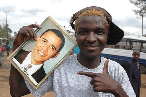 Obama fan in Kenya
