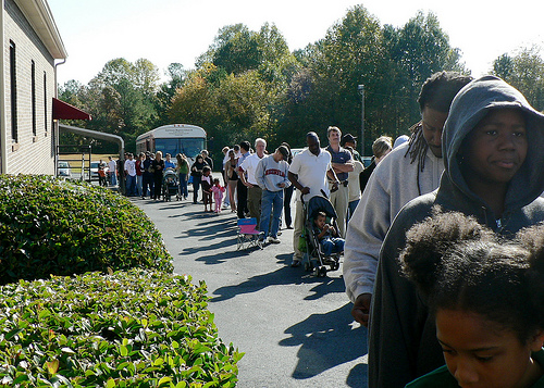 Voting line in GA