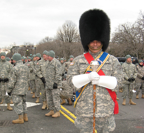 Drum major in hat